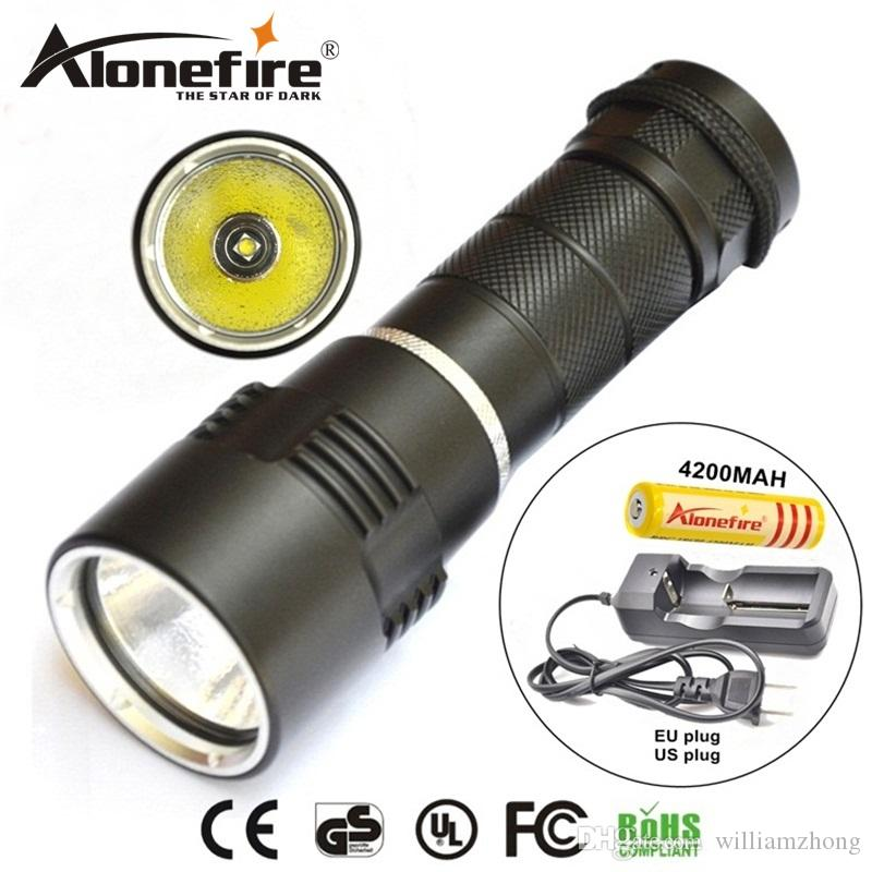 Diving Light Xml T6 Led Flashlight Zoomable Lamp Torch Underwater 50m Waterproof 18650 Or 3 Aaa Battery Diver Torch Flashlight Led Lighting