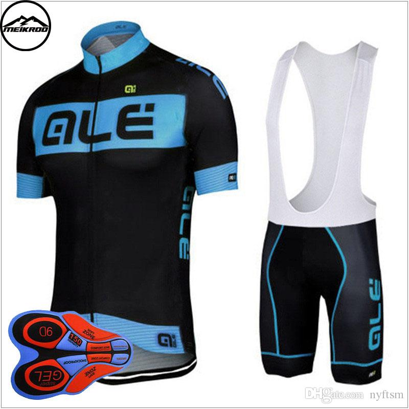 Ale Team Cycling Jersey Bib Shorts Short Sleeve Cycling set Ropa Ciclismo/2018 Mountain Bike Clothing/Breathable Mans Bicycle Jersey Sports