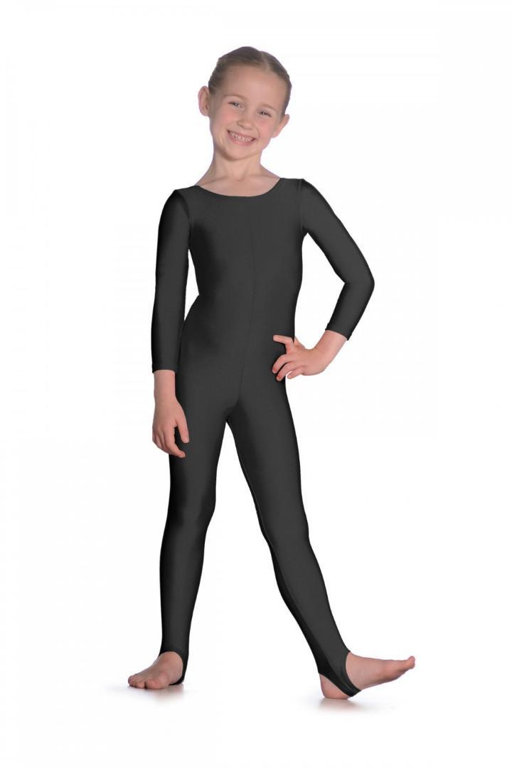 a02debdaf 2019 Girls Lycra Long Sleeve Dance Unitard Kids Stirrups Catsuits ...