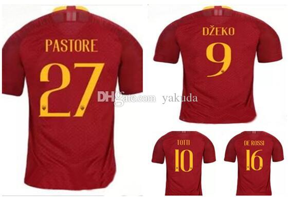 4627fcda7 Top Customized 18-19 Home 27 PASTORE 10 Totti Florenzi 24 4 ...