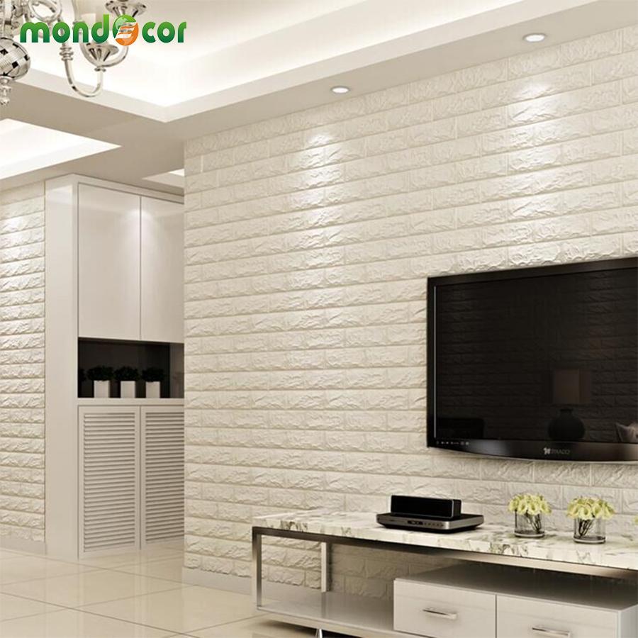 Acheter DIY Panneau Autocollant 3D Autocollants Muraux Salon Imperméable Revêtement  Mur Brique Papier Peint Pour TV Fond Enfants Chambre De $33.69 Du ...