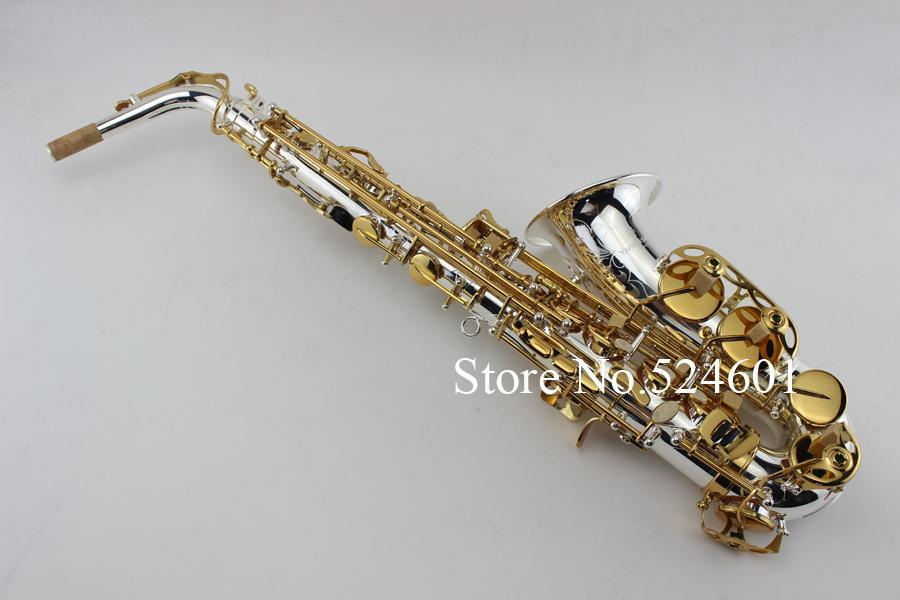 YANAGISAWA A-992 Eb Tune Sassofono contralto Argento placcato corpo e placcato in oro chiave squisito intagliato a mano strumenti musicali professionali Sax