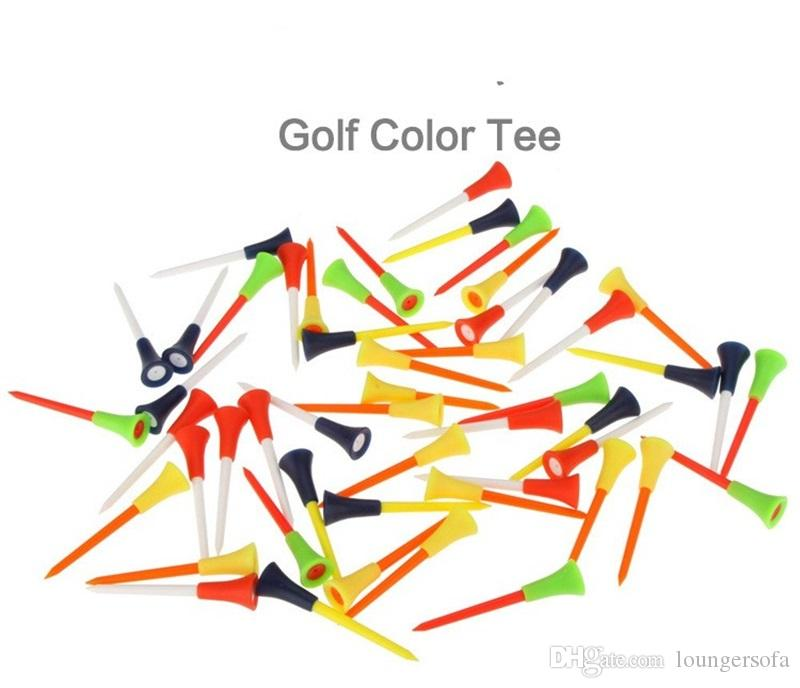 Golf Ball Nail Tee Plastic Court Articles Accessories Rubber Cushion Top Spike Mix Colour Hot Sale 0 35jl V