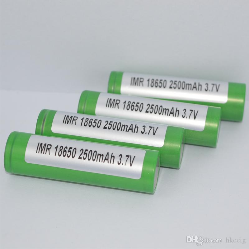 18650 batería de litio 2500mah verde 30a Max descargador recargable de alta batería de drenaje para E cig Mods 25R