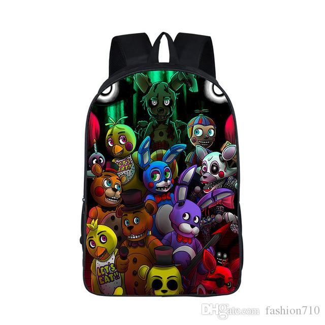 New Five Nights At Freddys Backpack For Teen Bonnie Fazbear Foxy Freddy  Chica Backpack Boys Girls School Bags Backpacks Kids Bags College Backpacks  Girl ... a5cb81a3e4