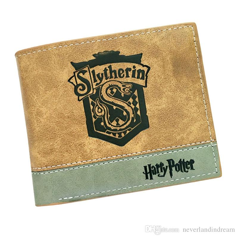 4 types of Harry Potter Anime 2 fold Wallet New Sale Khaki Color Purse Card and Photo Holder Money Bag