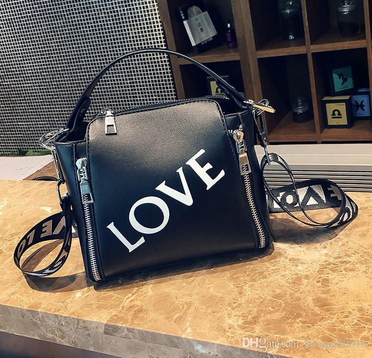 2018 New Fashion Donna Borse a tracolla Borse di lusso Borse donna Designer PU di alta qualità Totes Donna Mujer Bolsas