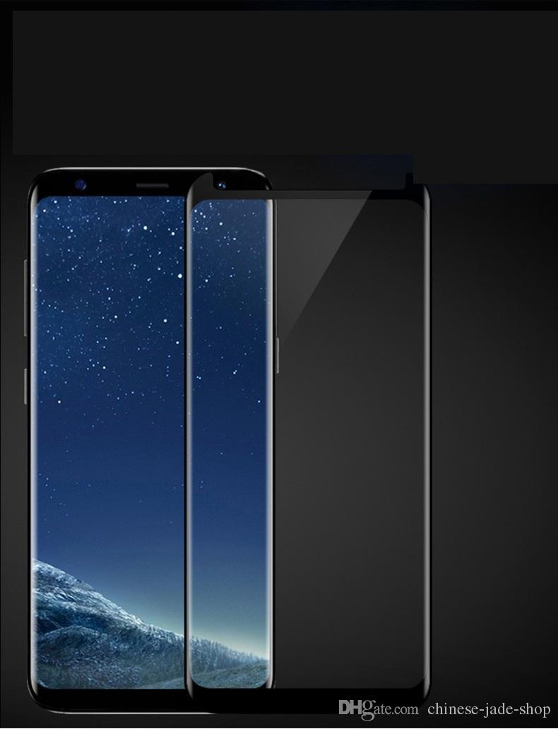 케이스 친화적 인 강화 유리 3D 곡선 삼성 갤럭시 노트 8 S9 Plus S8 Plus S7 가장자리 / 소매 패키지 없음
