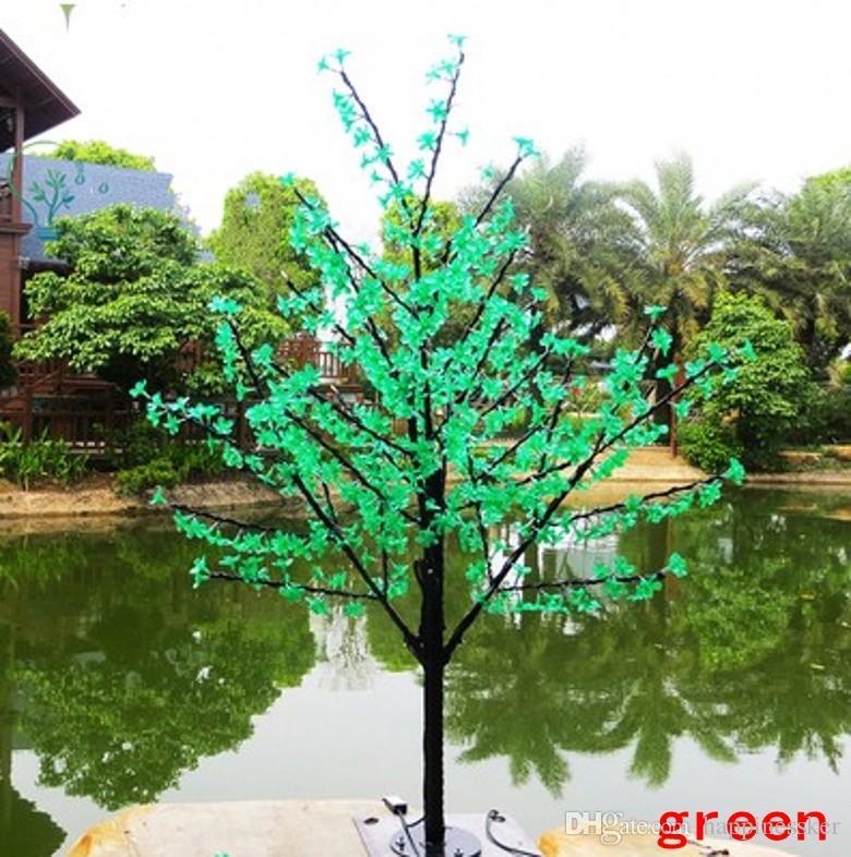 Christmas LED Cherry Blossom Tree Light LED Bulbs 1.5m Height 110/220V for Option Rainproof Outdoor Usage