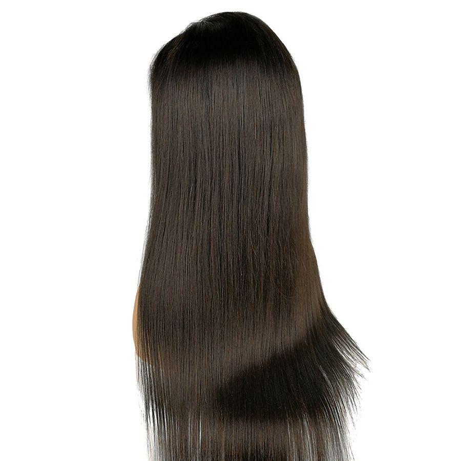 Capelli Honrin diritto serico brasiliano parrucca piena del merletto dei capelli umani vergini pizzicato con i capelli del bambino 130% densità parrucca anteriore del merletto nodi candeggiati