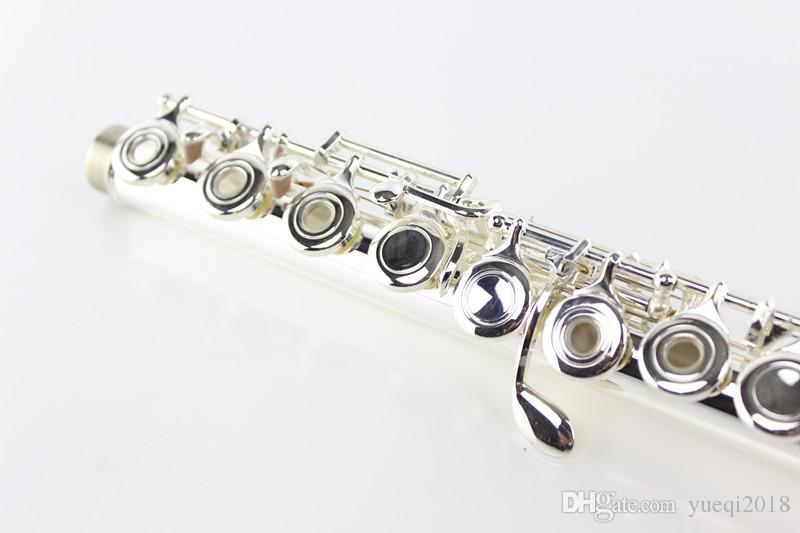 Quality Concert Musical Instruments MARGEWATE 17 Hole Open C Tune Flute Cupronickel Silver Plated With Case E Key