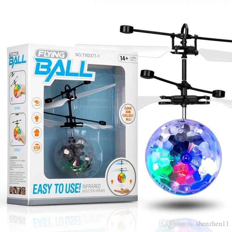 RC Drone Flying copter Ball Aircraft Helicopter Led Flashing Light Up Toys Induction Electric Toy sensor Kids Children Christmas OTH486