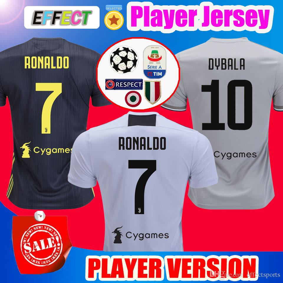 2019 Top Thailand Player Version 2018 RONALDO JUVENTUS Soccer Jerseys 18 19  JUVE Home 2019 DYBALA PJANIC Camisetas De Futbol Football Shirts From ... 1e2d2a469