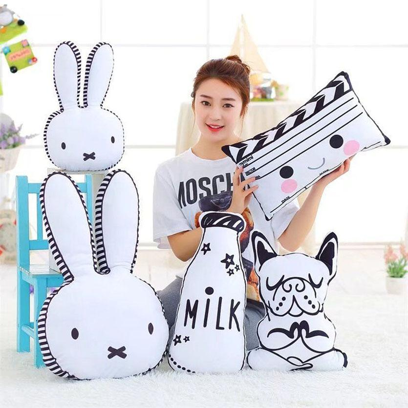 Baby Pillow Infantil Toddler Rabbit Sleep Pillow Baby Bed Toy Cute Kids Portable Bedroom Bedding Set Room Decor