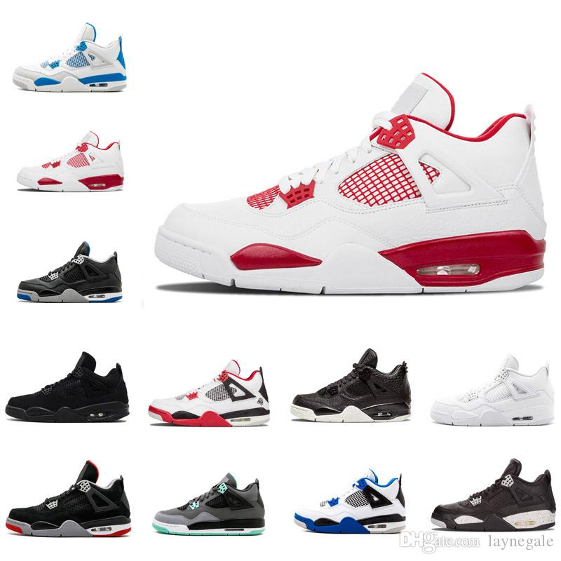 33a0ee4d582 2018 Cheap Shoes 4s Men Basketball Shoes 4 Alternate Motorsport Dunk From  Above Pure Money Royalty Size 7 13 Shoes Sneakers Jordans Shoes From  Laynegale
