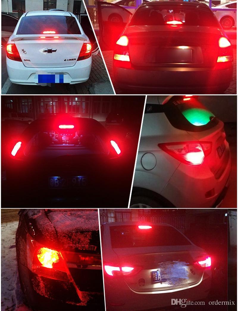 1 unids P21 / 5W LED Car BAY15D bombilla led 1157 Señal de cola Parada de freno Inversa DRL Luz 5W 3014 57 led smd Amarillo Rojo 6000K Blanco