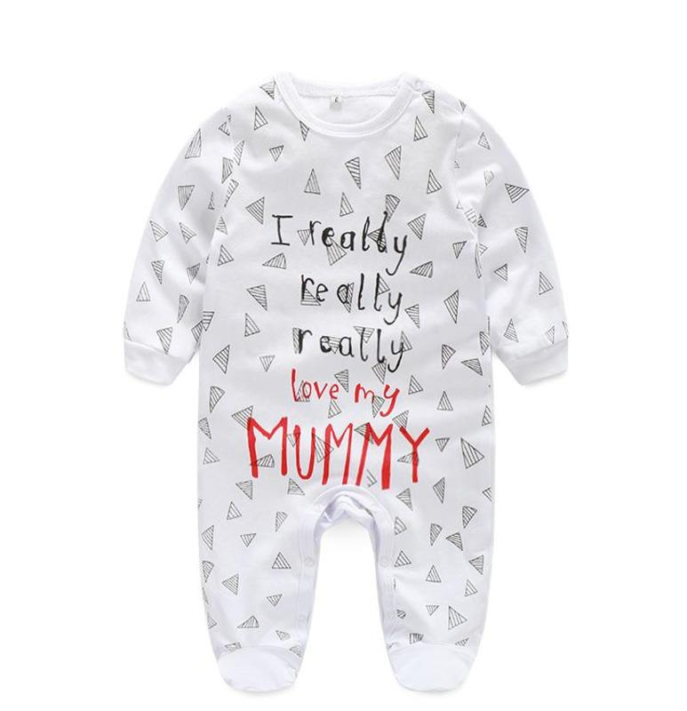 2019 Fashion Letter Star Triangle Printing Rompers Baby Bodysuit Boy Romper  Branded Newborn Baby Clothes Jumpsuit Long Sleeve Baby Boy Clothes From  Linfen12 ... 7d4f198da2