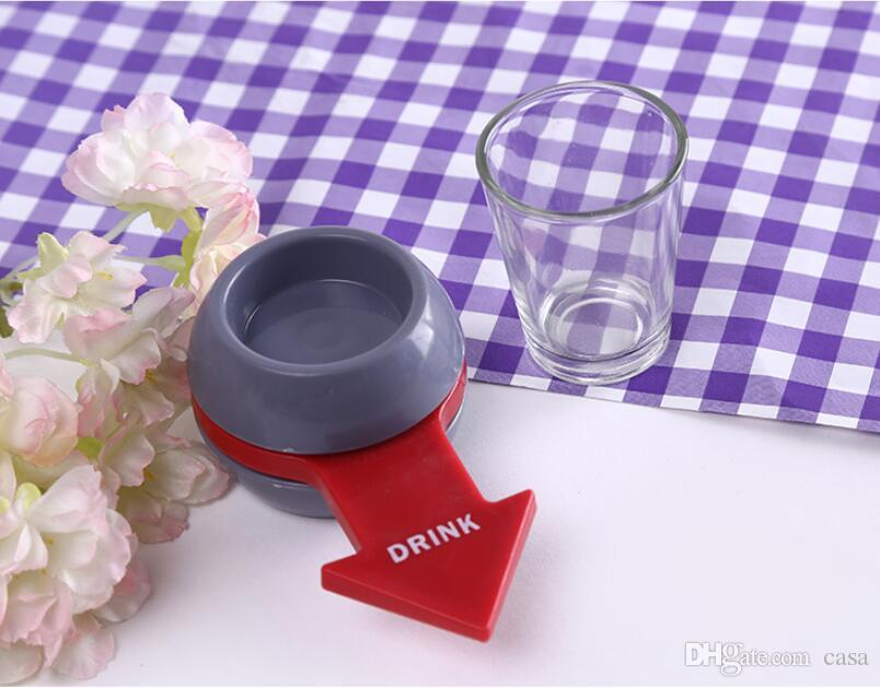Novely Spin The Shot Glass Turntable Toys Drinking Game Shot Glass With Spinning Wheel Bar Wine Games Party Favors