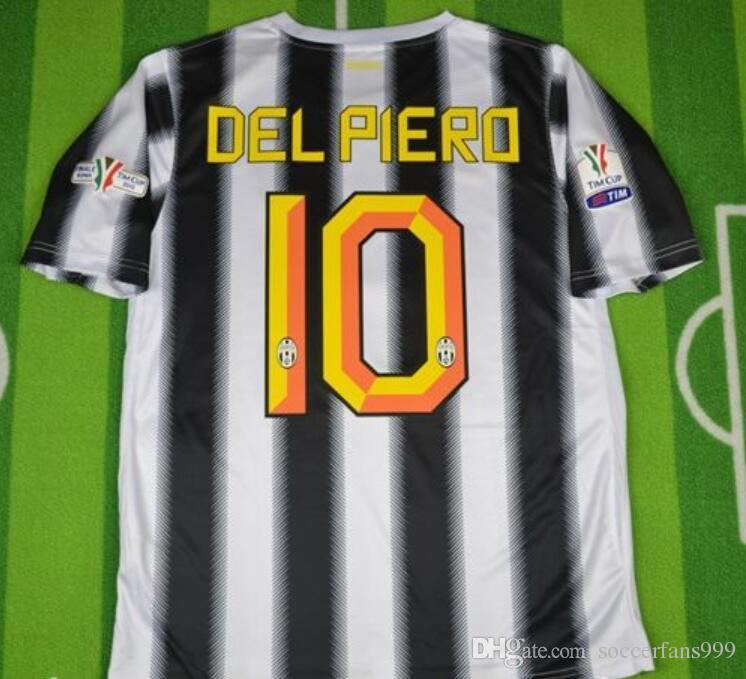 09e29bf8159 2019 11 12  10 Del Piero Retro Soccer Jersey Vintage 2011 2012 Italia  Calcio MAGLIA Pirlo Football Shirts Alessandro Retire Final Match From  Soccerfans999