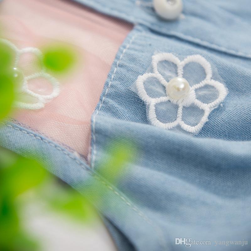 2017 nuova bella principessa garza Mini Party Princess Dress Baby Baby Flower cowboy senza maniche Princess Dress