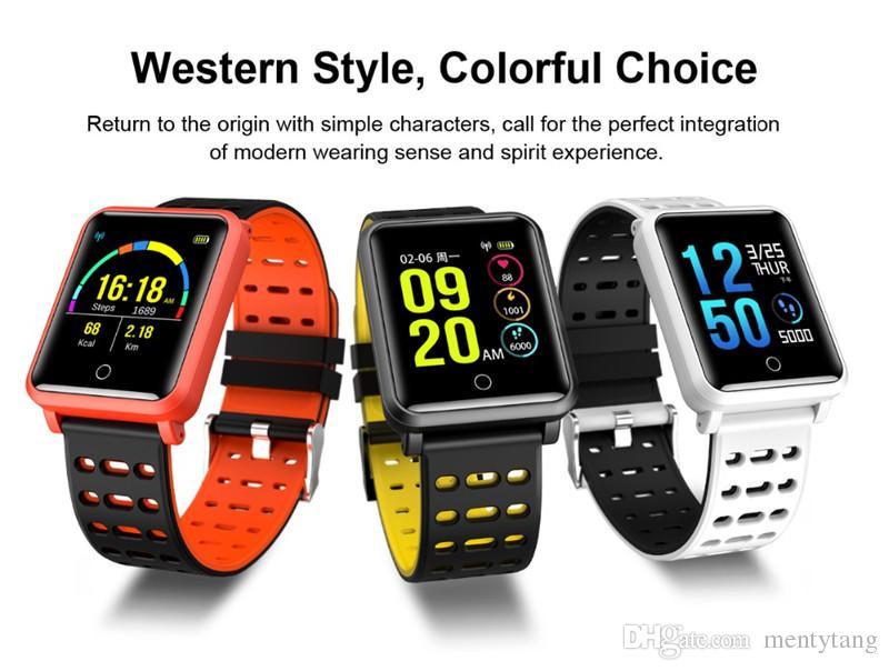 Moniteur de fréquence cardiaque de moniteur de fréquence cardiaque IP68 de moniteur de fréquence cardiaque de bracelet intelligent de couleur d'écran de N88