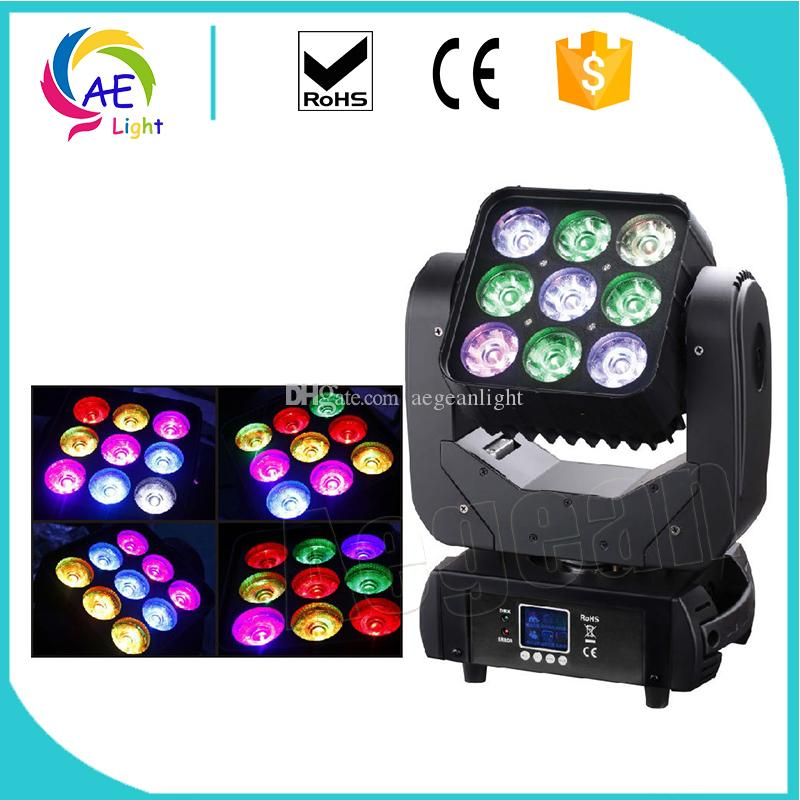 Stage Lighting Effect 9x12w Moving Head Beam Light Mini Matrix Light Rgbw 4in1 Stage Lighting Effect Beam Disco Light Commercial Lighting