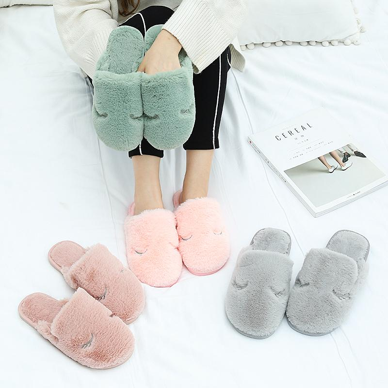 cd87821a9eec 2018 New Casual Slipper Flip Flop Sandal Women Slippers Zapatos Mujers  Ladies Slip On Sliders Fluffy Faux Fur Flat Size 36~41 Shoe Sale Suede Boots  From ...
