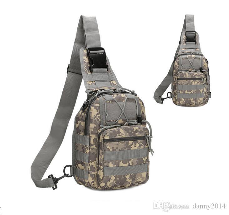 Außen camo einzelnes Schulter-Pack Sport Sling Brusttasche einzelner Schultertasche Camping Wandern Trekking Rover Sport-Pack Geldbörse