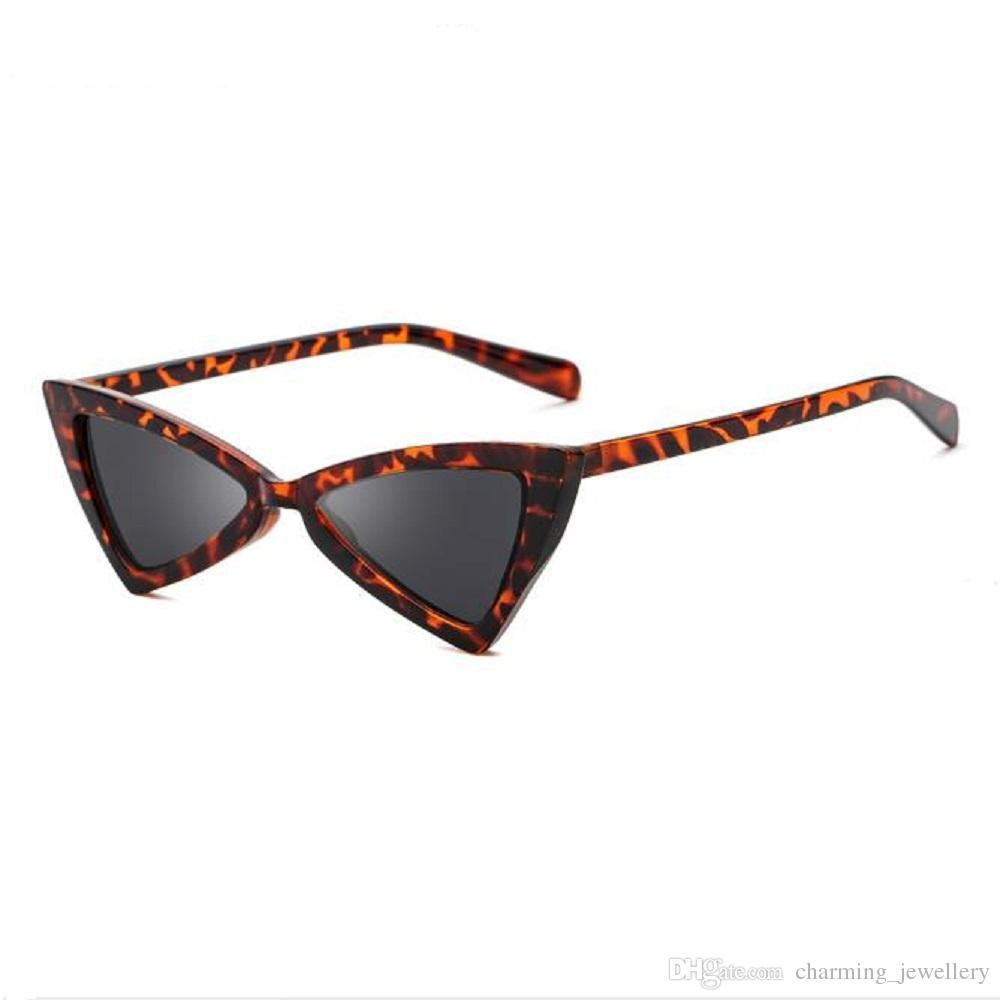 Vintage Small Cat Eye Sunglasses Women Brand Designer Triangle Personality Exaggerated Ladies Glasses k8tXj7IGHW