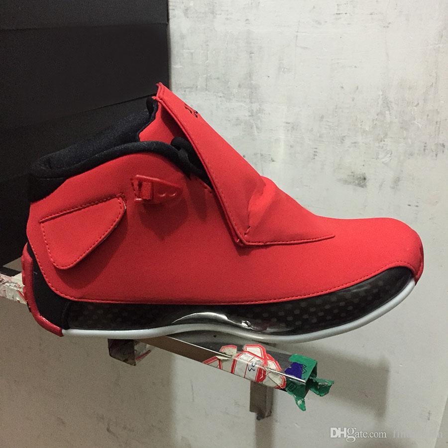 2018 yılında bırakılması 18 Spor Salonu Kırmızı Erkek Basketbol Ayakkabıları için klasik 18 s XVIII Toro renk düzeni süet Bred sürüm Atletik Spor Sneakers
