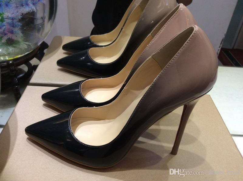 9fa275cf2c6f Original Box New Red Bottom Women s 12cm Thin Iron Heels Patent ...
