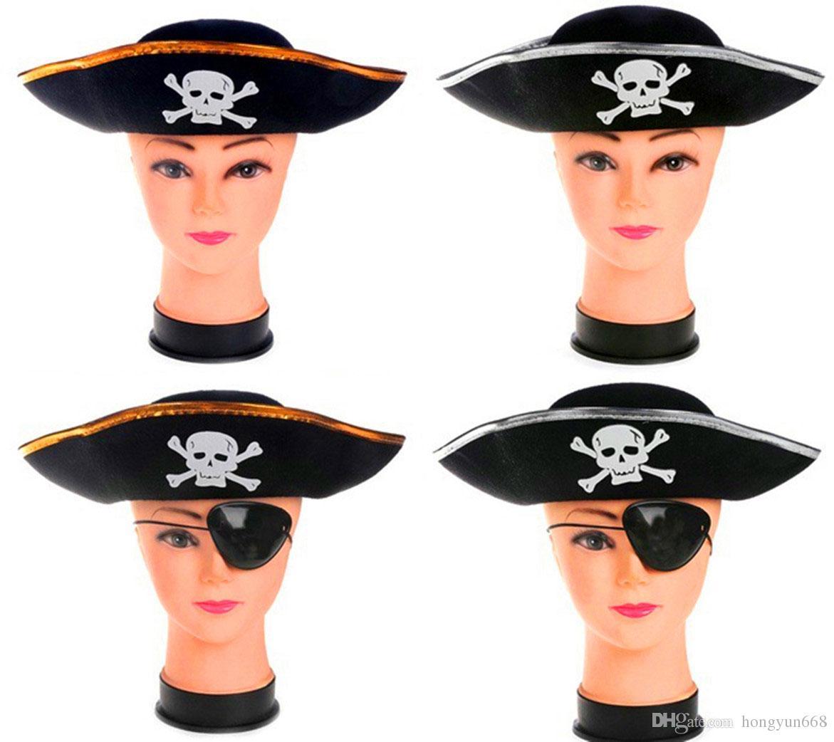 Acquista Cappello Di Halloween Cosplay Cappello Partito Adulto Bambino  Pirata Capitano Tappo Caraibico Scheletro Cappello Da Pirata A  1.17 Dal  Hongyun668 ... e6f99ed97c8b