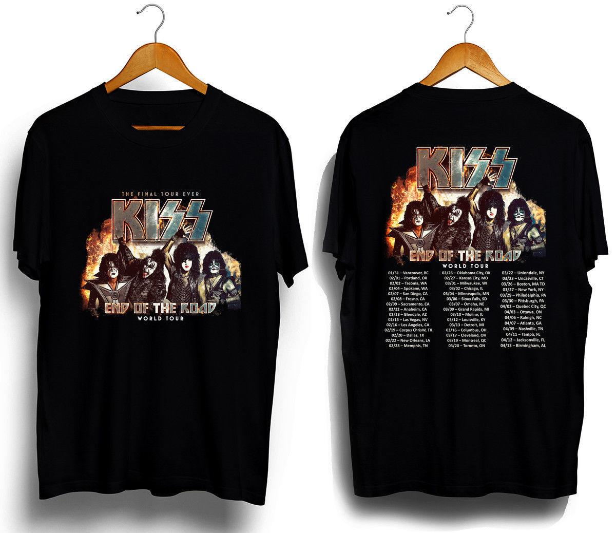 3bc65edad Kiss Band End of The Road Tour 2019 T SHIRT S-5XL MENS TEE high quality  brand wholesale Men's Short Sleeve new Summer Printed