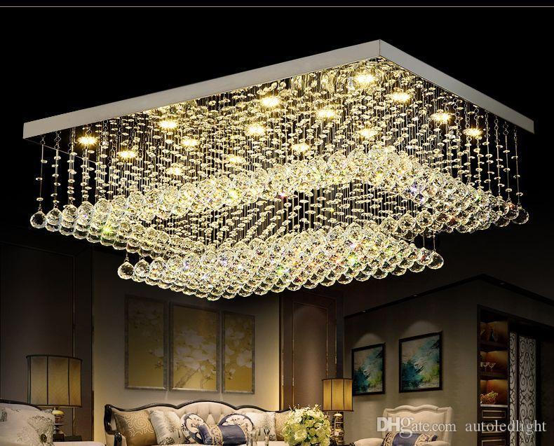 Plafoniere Con Gocce Di Cristallo : Acquista lampadari di cristallo a led moderni contemporanei