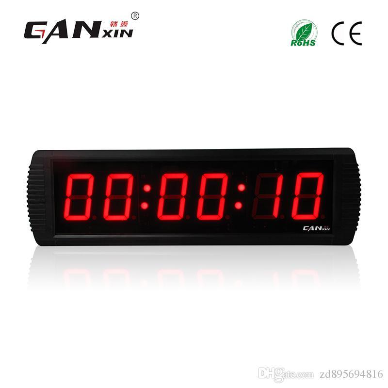 0baab39effc Compre GANXIN 3 Polegada 6 Dígito Led Relógio Personalizado 7 Segmento De  Exibição Led Para 12 24 H Relógio Temporizador Real