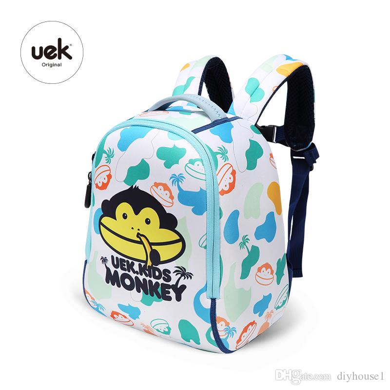 3ff4e2f54020 2019 Children S Backpack Cartoon Cute Vacation Monkey Backpack School  Waterproof Toddler Bags Kids With Pink And Blue From Diyhouse1