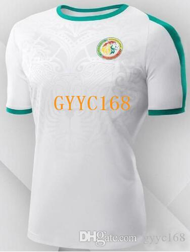 size 40 321c9 e495e Senegal 2018 world cup away Soccer Jerseys Senegal national football team  away white soccer shirt 2018 MANE Football uniforms kits