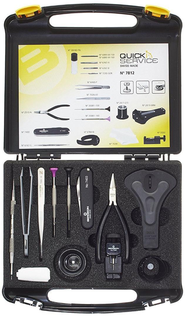 ae57b88a26d 2019 Bergeon 7812 Watch Tool Case Quick Service Kit Swiss Made Watchmaker  Screwdriver From Wonderline2