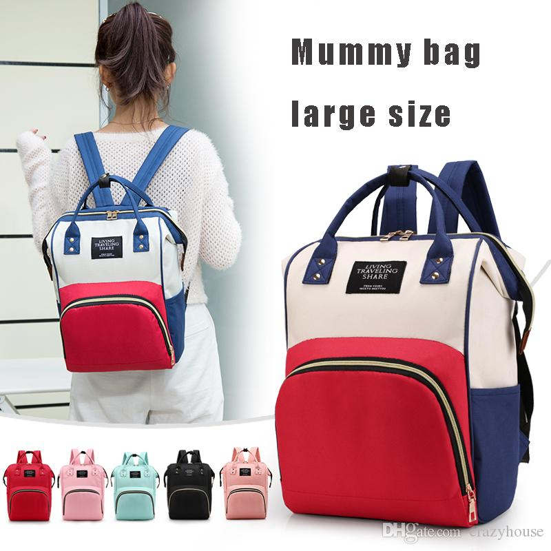 2018 New Multifunctional Baby Diaper Backpack Mummy Printing Bag Mummy  Backpack Nappy Mother Maternity Backpacks Large Size 58018-12 Luxury Famous  Designer ... a628ce361a563
