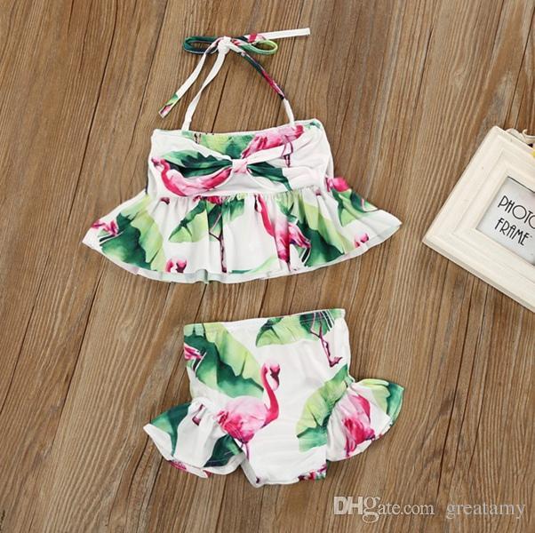 1eee2969a7 2019 New Brand Newborn Baby Toddler Infant Child Kids Baby Girls Flamingo  Swimwear Swimsuit Bikini Bathing Suit Costume 1 6T From Greatamy, $5.83 |  DHgate.
