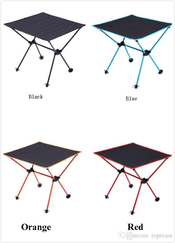 Portable Folding Picnic Table.Outdoor Bbq Picnic Table Portable Folding Table Oxford Cloth Aviation Aluminum Camping Table Wholesale 4 Colors