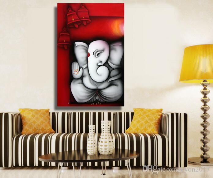 Tela pittura Ganesha Buddha Wall Art Immagini a parete per soggiorno senza  cornice decorativa immagini