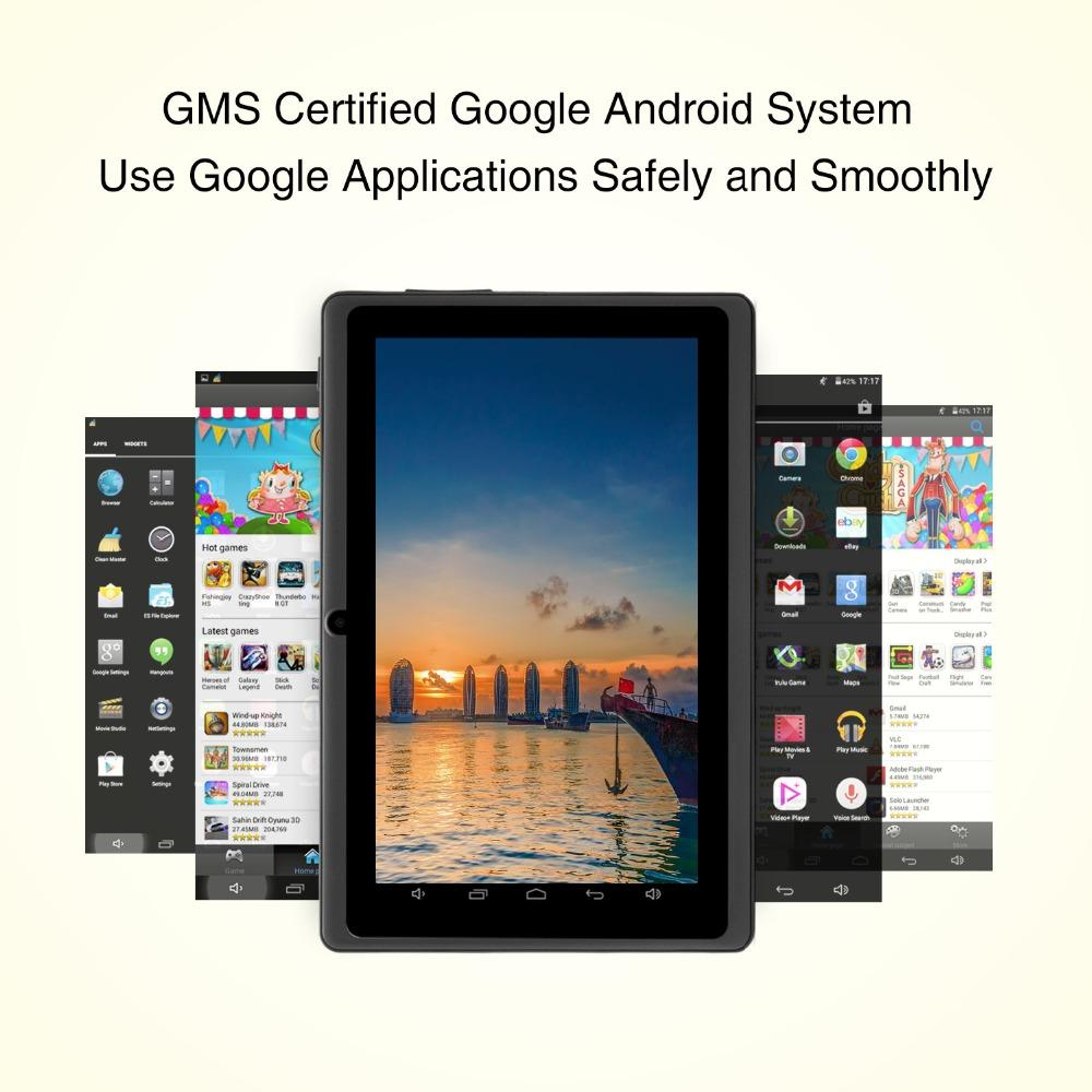 7 inch Tablet Google Android 8 1 Quad Core Dual Camera Wi-Fi Bluetooth  1GB/8GB Play Store Skype (Black)