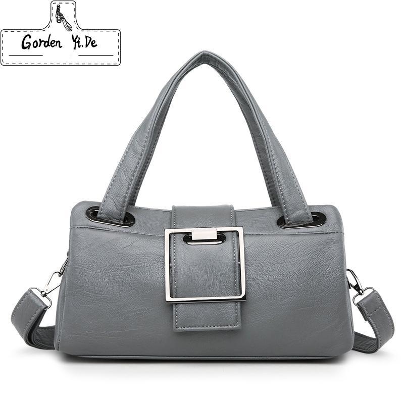 8dcbd5dd9bda Brand Women Casual Boston Bag 2018 Luxury Handbags Women Leather Messenger  Bags Designer Ladies Crossbody Handbag New Year Gift Side Bags Handbag  Brands ...