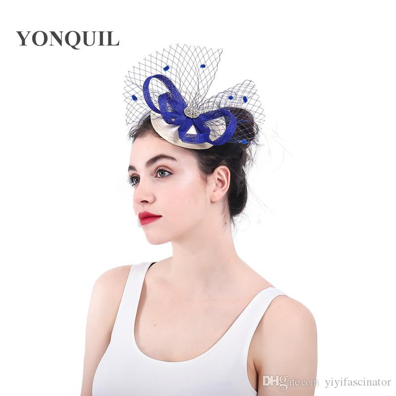 126d5c4b New Arrival Select Ladies Fascinators with Dot Veils Racing Season Hats  Sinamay Wedding Hat for Cocktail Party Event Occasion SYF318 Fascinators  with Dot ...