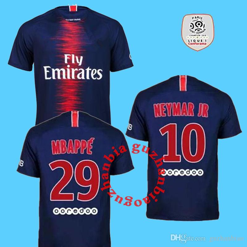 Compre NEYMAR JR MBAPPE Psg Camisas De Futebol 2018 2019 Camisa De Futebol  Maillot Camisa Saint Germain DANI ALVES Camisa 18 19 Cavani Verratti De ... 43e805e4663e2