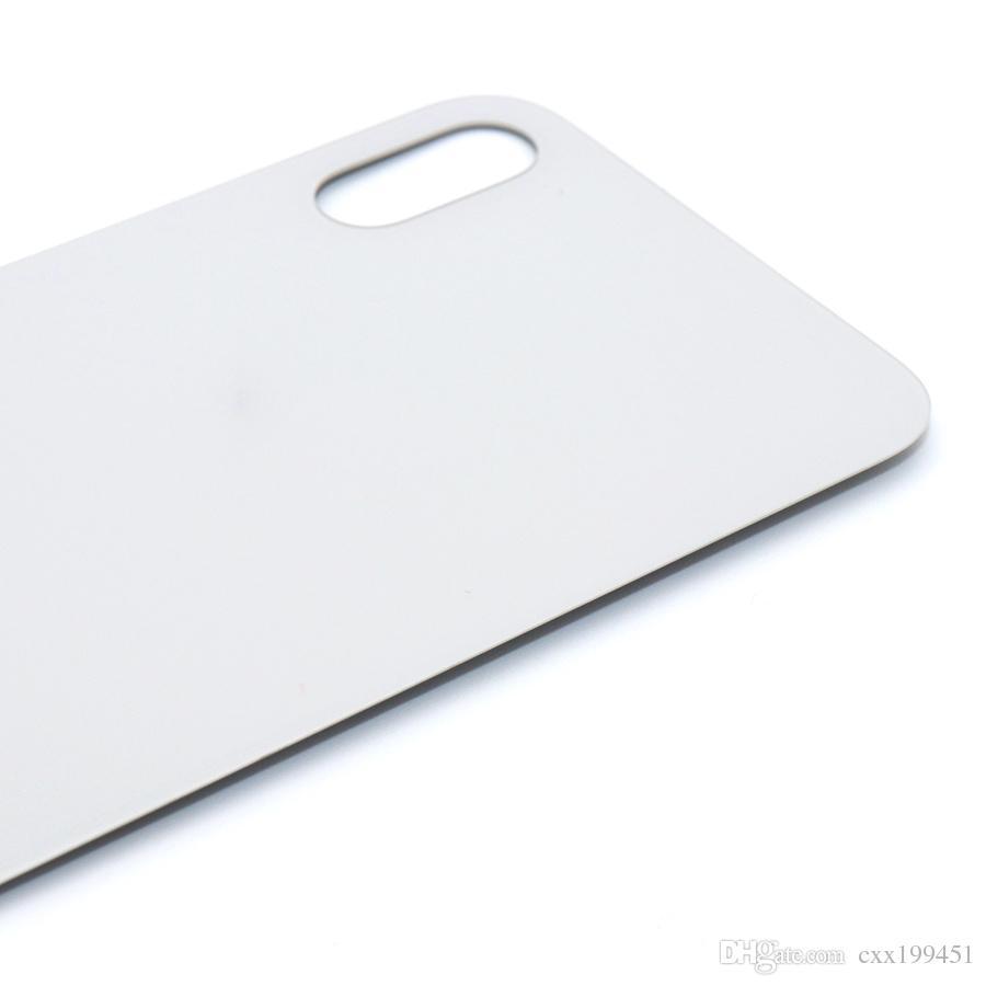 Para Apple IPhone X Volver Cubierta de la batería Cubierta de la puerta trasera Caso chasis medio Reemplazo para iPhone X carcasa trasera
