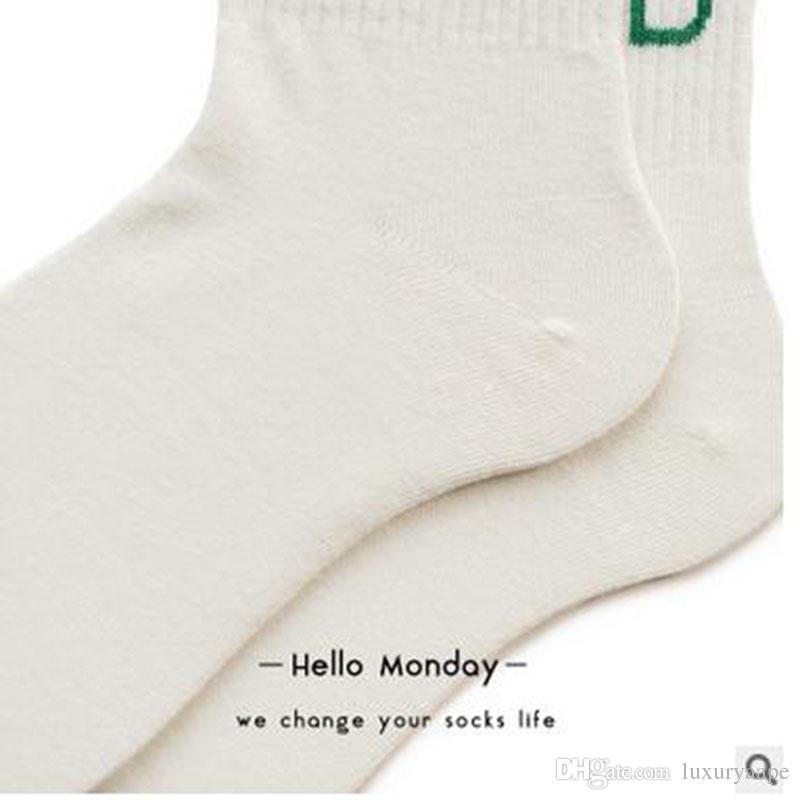 Happy Socks 1997 Calze sportive digitali uomo e donna cotone American Street Retro Tube Socks Lovers motivo a strisce