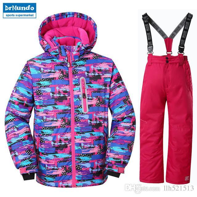 3d7a2047cf 2019 2018 NEW Girls Ski Jacket Children Waterproof Windproof Clothing Kids  Skiing Set Winter Warm Snowboard Outdoor Ski Suit Boys Ski Set From  Llh521513