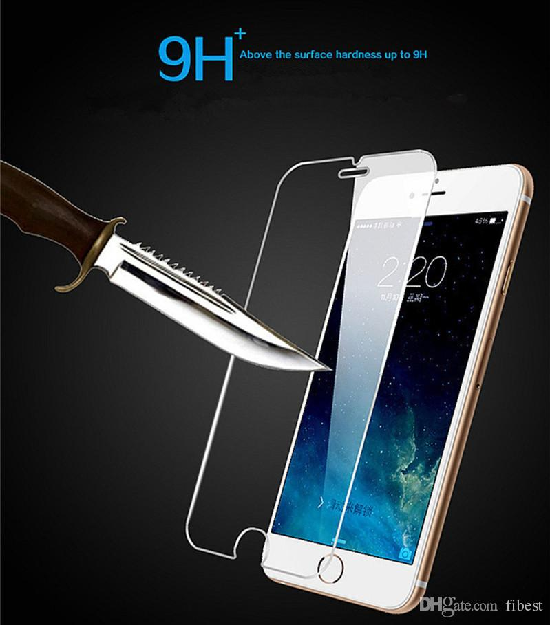 HD Tempered Glass For iPhone XS Max X 6 7 8 Plus Mobile Phone Anti-Scratch Clear Front Screen Protector Film 9H
